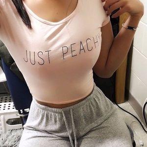 "Tiger Mist Women's ""Just Peachy"" Crop T-Shirt"